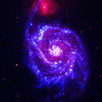 UVOT images of SN 2005cs, a Type II supernova in the nearby galaxy M51.